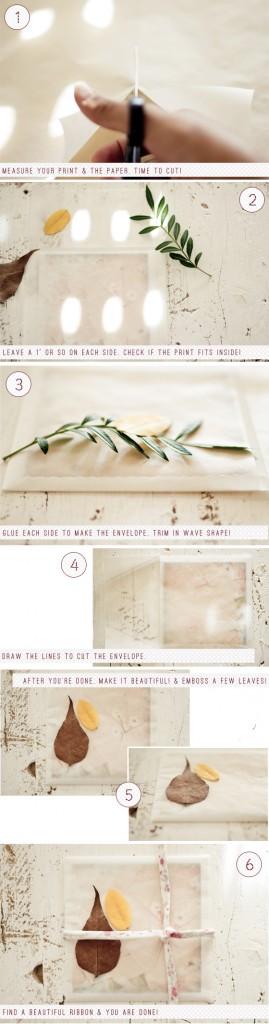 DIY :: tracing paper envelope