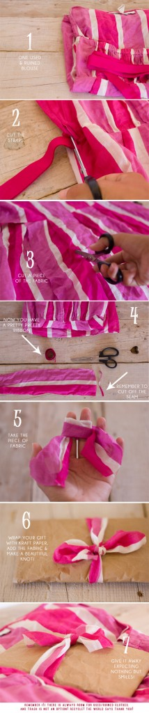 DIY :: a pretty recycled ribbon