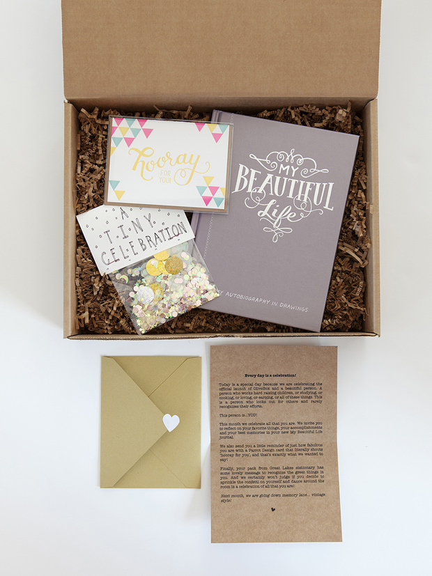 October Box // Olive Box - Monthly Subscription Service for Paper Lovers