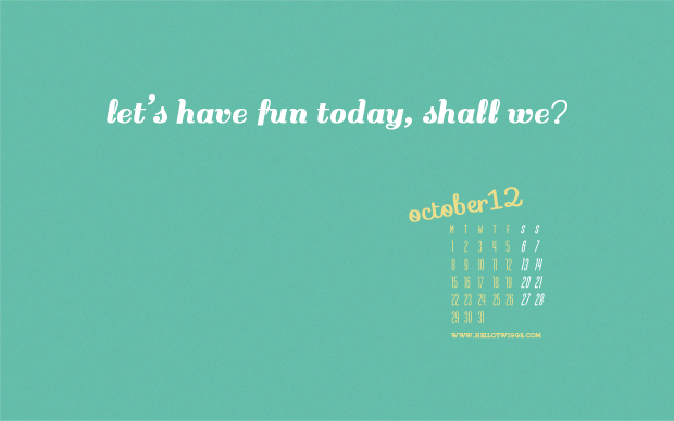 Free Desktop WallPaper October 2012 // Twiggs Designs