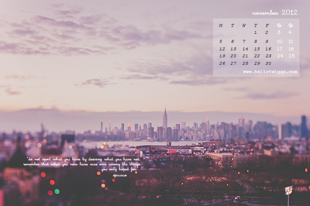 Free Desktop Wallpaper featuring Empire State Building in the evening from Brooklyn