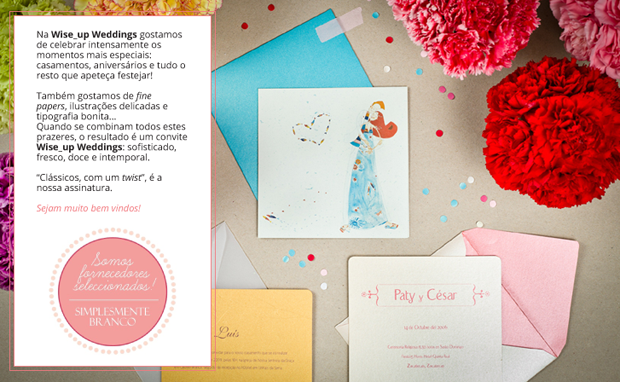 Convites de Casamento Criativos por Wise-Up Weddings // Portugal