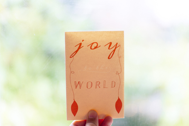 Free Christmas Card saying Joy to the world by Twiggs Designs
