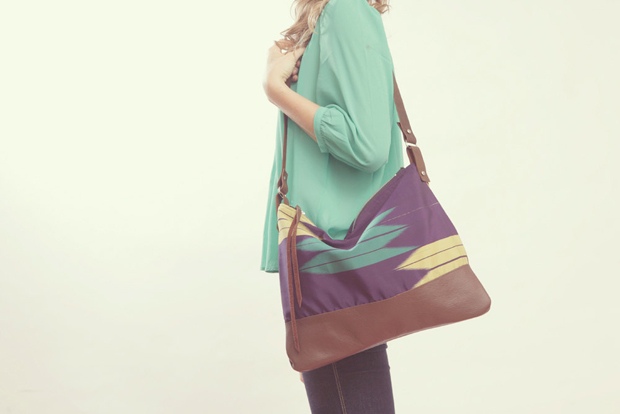 The Parker Bag, Leather & Kimono Purse, Tribal Arrow by Grace Design