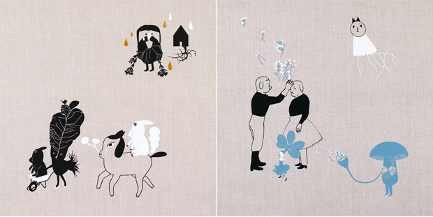 Examples of Illustrations by Ana Ventura, a portuguese visual artist