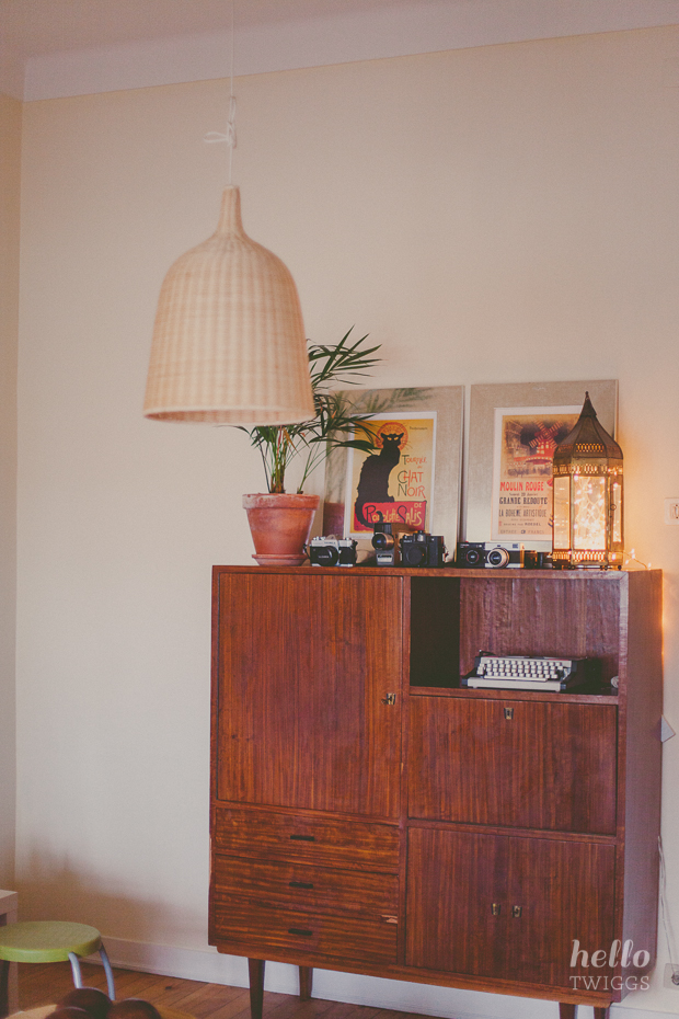 Mid-Century Furniture, Vintage Cameras, Indoor plant and Ikea Lamp