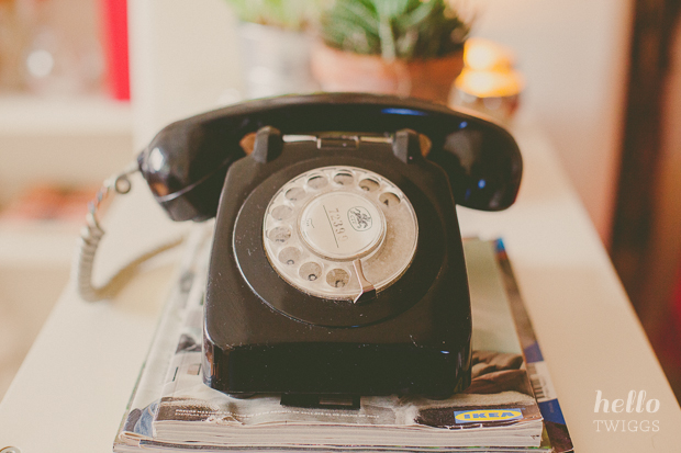 Old Rotary black phone