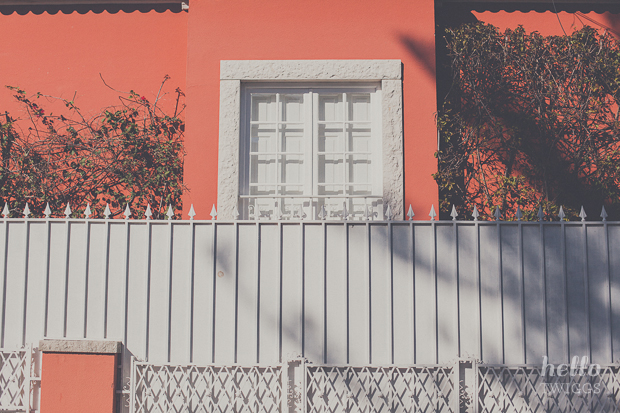 White Door and fence in Lisbon by Hello Twiggs