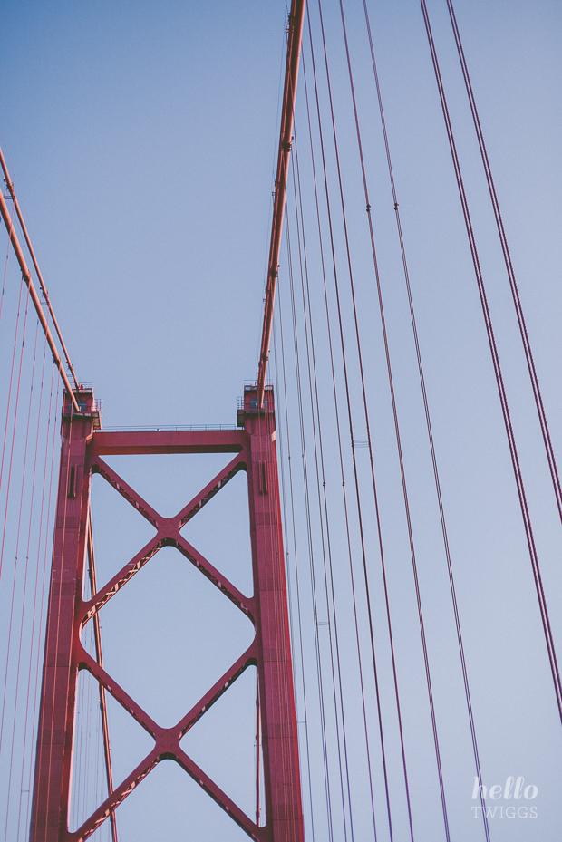 Passing through Ponte 25 de Abril in Lisbon