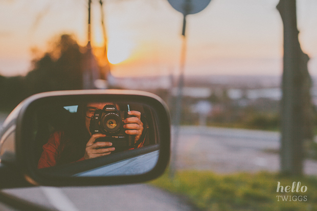 Road Trip, Self-portrait and Sunset