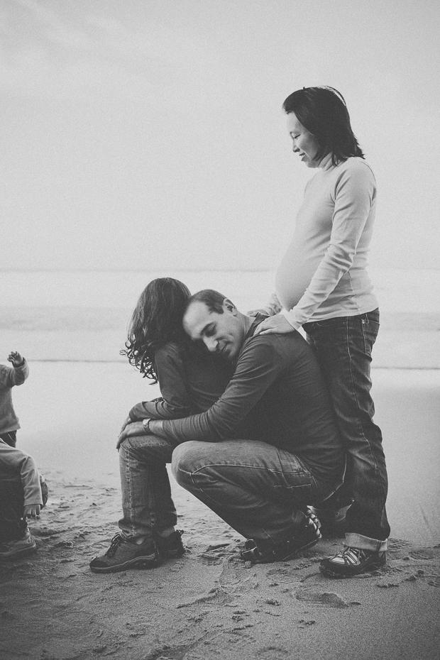 Família à beira-mar