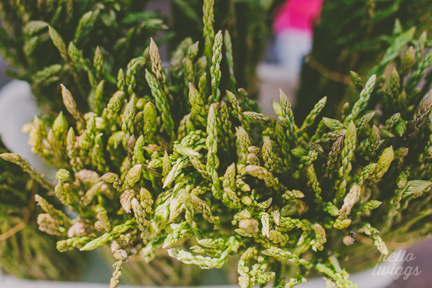 Asparagus being sold in the street in Almeirim