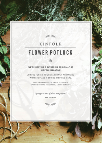 kinfolk flower potluck :: lisbon