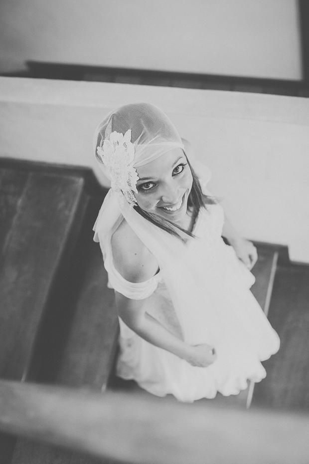 Fotografia de Casamento - Noiva a descer as escadas