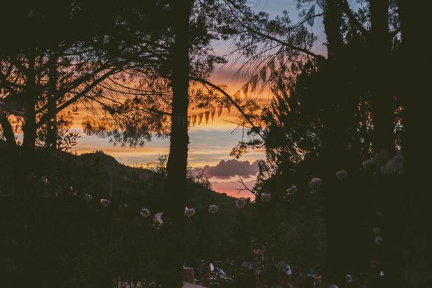 Fotografia de Casamento - Pôr-do-sol durante o jantar