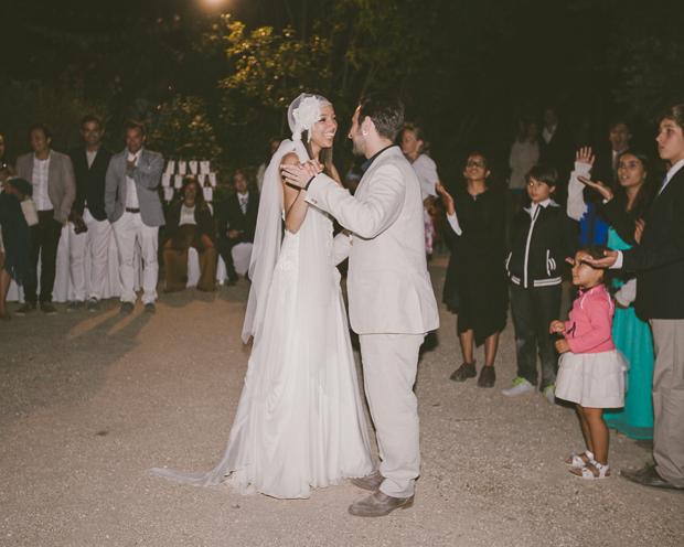 Fotografia de Casamento - Noivos sorriem durante a primeira dança