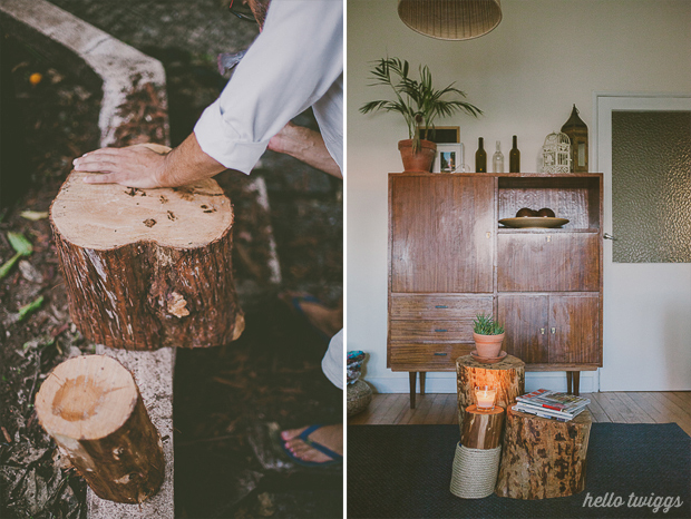 How to prepare a tree trunk to be inside the house