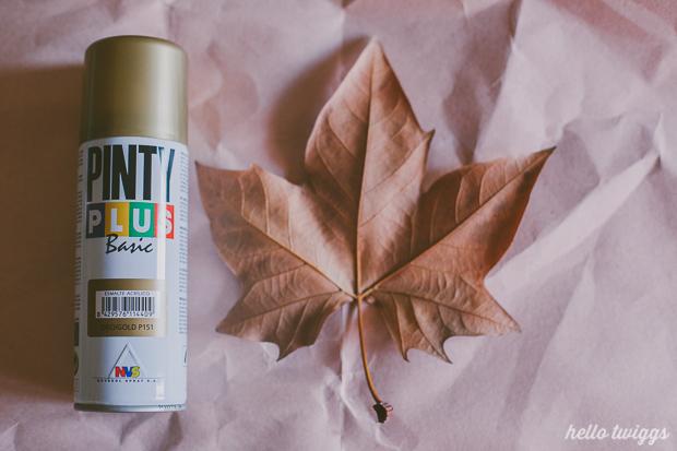 Golden Leaves DIY Project