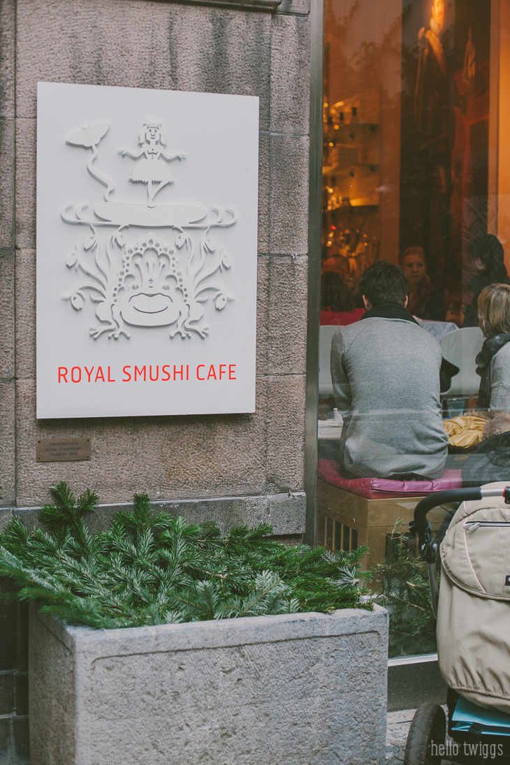 Lunch at Royal Smushi Cafe in Copenhagen