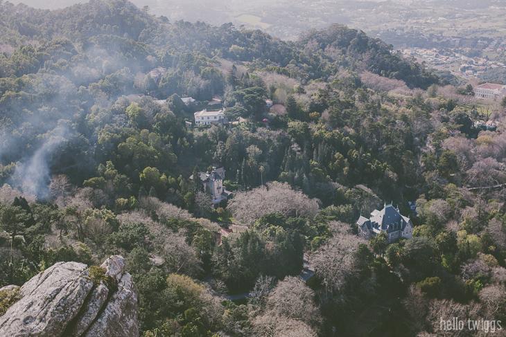 Vista do Castelo dos Mouros sobre Sintra