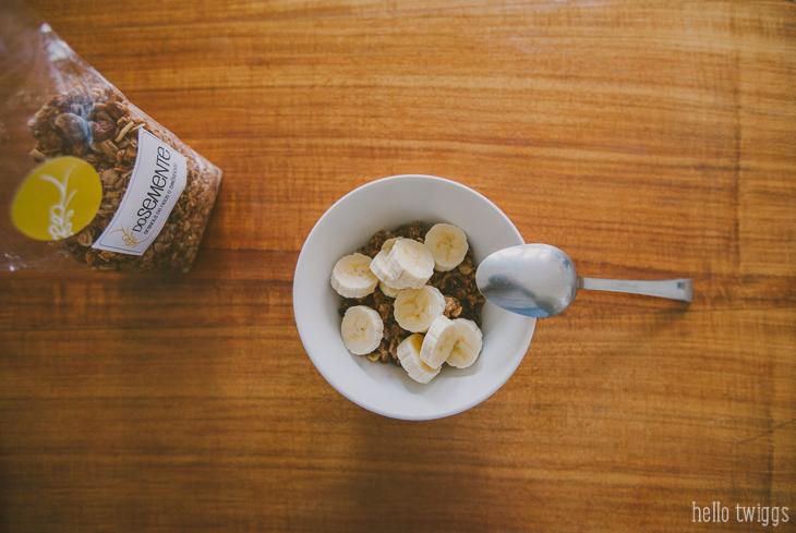 Granola DoSemente com Iogurte e banana