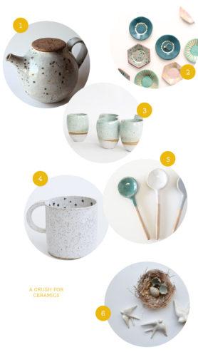 A crush for ceramics